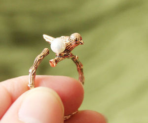 bird, ring, and gold image