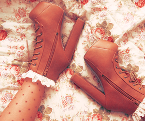 brown, shoes, and love image
