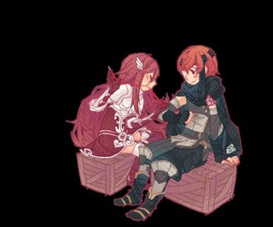 Awakening, couple, and red head image