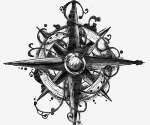 compass, art, and drawing image