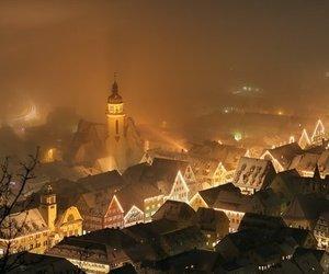 light, night, and fog image