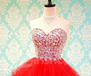 red dress, sweetheart, and homecoming dress image
