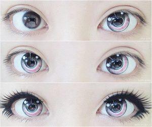 eyes, kawaii, and pink image