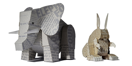 animal, Paper Toys, and elephant image