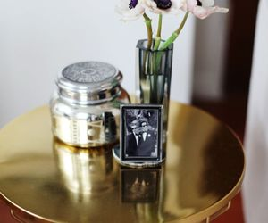 accessories, candle, and gold image