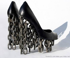 shoes, heels, and chains image