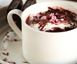 cake, christmas, and hot chocolate image