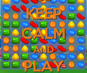 candy, keep calm, and game image