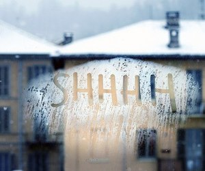 window, winter, and snow image