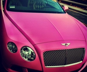 car, pink, and Bentley image