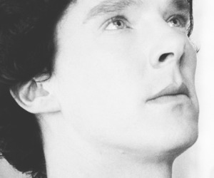 black & white, eyes, and sherlock image