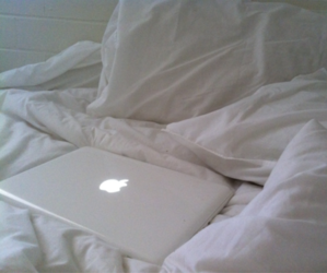 apple, white, and bed image