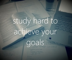 study, goals, and quote image