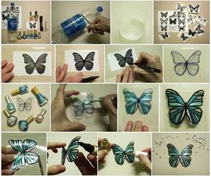 beauty, decoration, and butterfly image