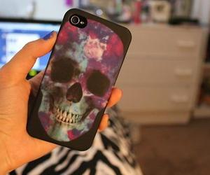 photography, iphone, and skull image