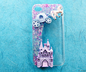 carriage, castle, and glitter image