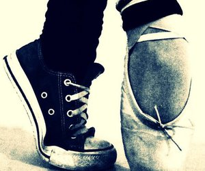 all star, ballet, and black and white image