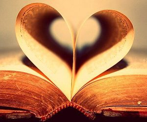 books, read, and heart image