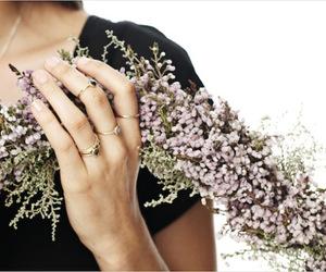 flowers, jewellery, and dear rae image