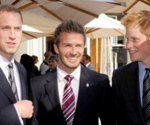 prince harry, prince william, and David Beckham image