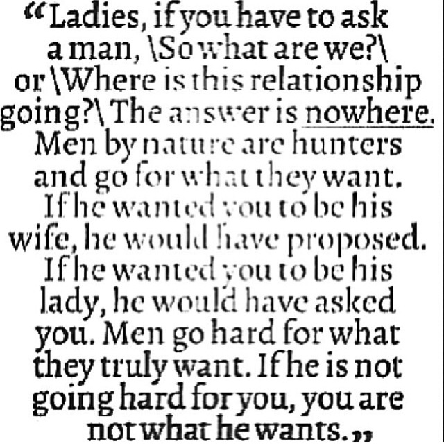 Men go hard for what they want