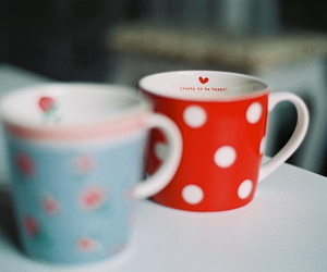 cup, cute, and flowers image