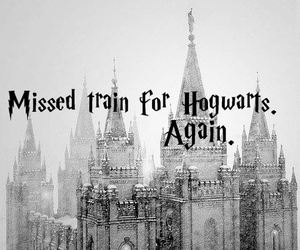harry potter, hogwarts, and train image