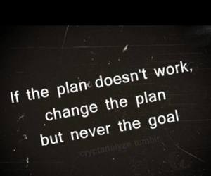 goal, plan, and never image