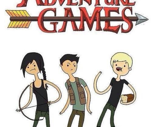 the hunger games, katniss, and adventure time image