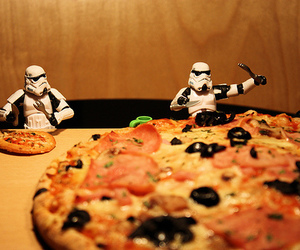 pizza, star wars, and food image