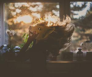 girl, fox, and mask image