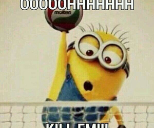 volleyball, minions, and kill image