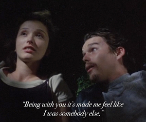 before sunrise, movie quote, and movie image