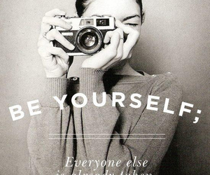 be yourself, vintage, and photography image