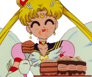 sailor moon, anime, and cake image