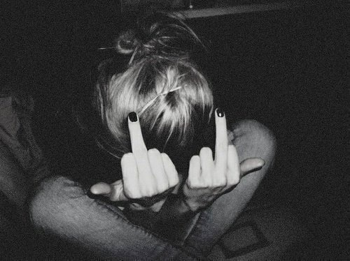 black, black and white, and middle finger image