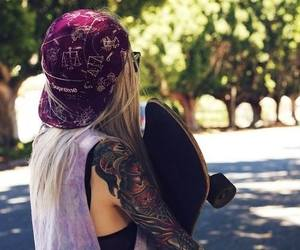 sk8, girl skate, and skate image
