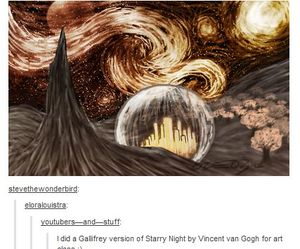 doctor who and starry night image