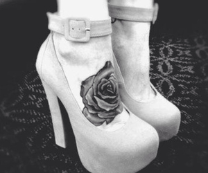 tattoo, rose, and heels image