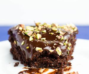 cake, nuts, and vegan image