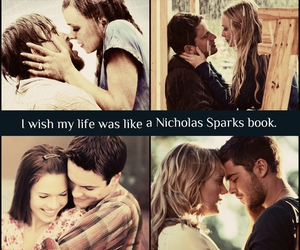 love, nicholas sparks, and book image