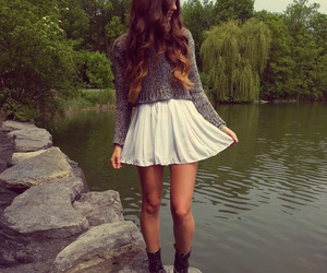 boots, skirt, and cropped image