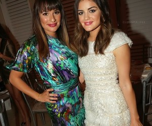 lucy hale, lea michele, and glee image