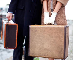 couple, travel, and vintage image