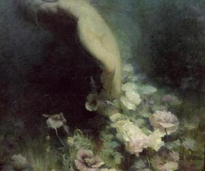 painting, art, and dark image