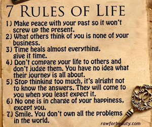life, rules, and smile image