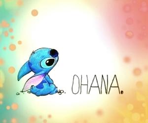 ohana, family, and stitch image
