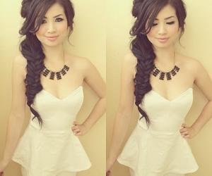 black, dress, and hair image