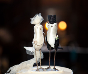 birds, cake topper, and wedding image