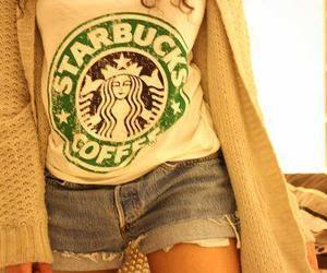 starbucks, coffee, and shorts image
